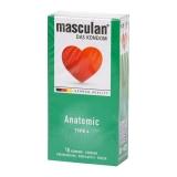 Óvszer Masculan 4 zöld anatómiai 10x