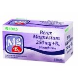 Béres Magnézium 250 mg+B6 filmtabletta 60+60x (120x)