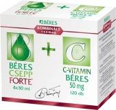 Béres Csepp Forte belsőleges oldatos cseppek + C-vitamin 4x30ml + 120x