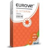 Eurovit D-vitamin 2000NE étrendkieg. tabletta 60x